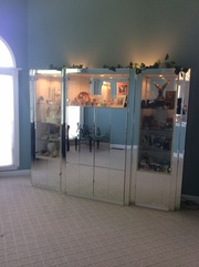 9' x 7' Mirror & glass wall Unit